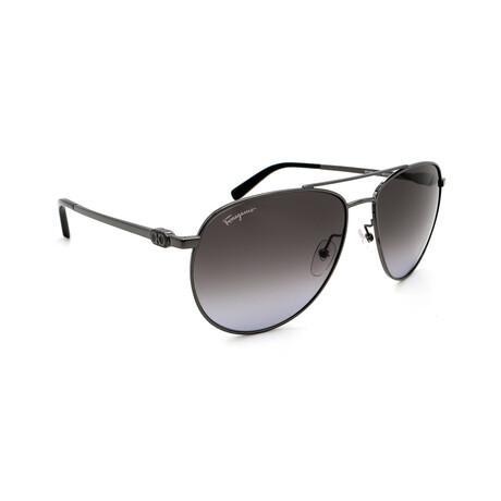 Unisex SF157S-069 Aviator Sunglasses // Silver + Gray