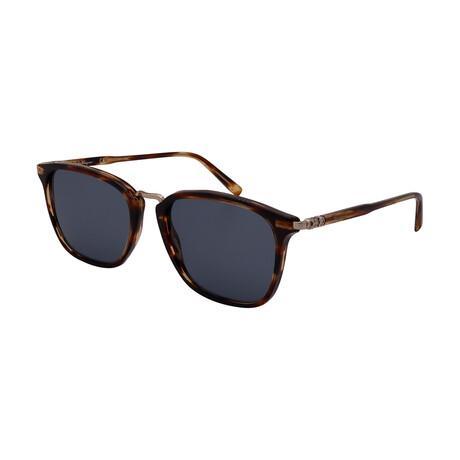Unisex SF910S-216 Square Sunglasses // Striped Brown