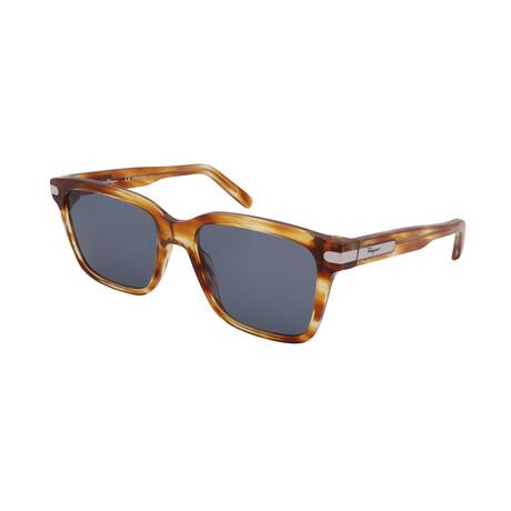 Unisex SF917S-262 Square Sunglasses // Striped Caramel