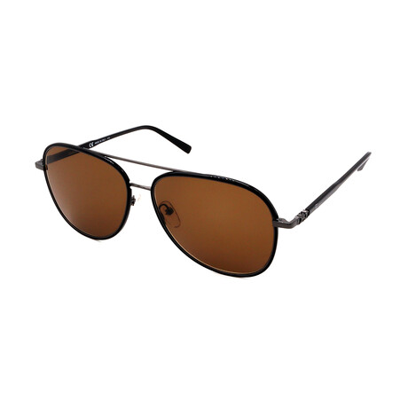 Unisex SF181S-001 Aviator Sunglasses // Black