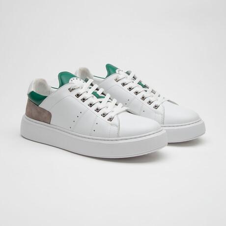 TT1660 Sneakers // White + Green (Men's Euro Size 40)