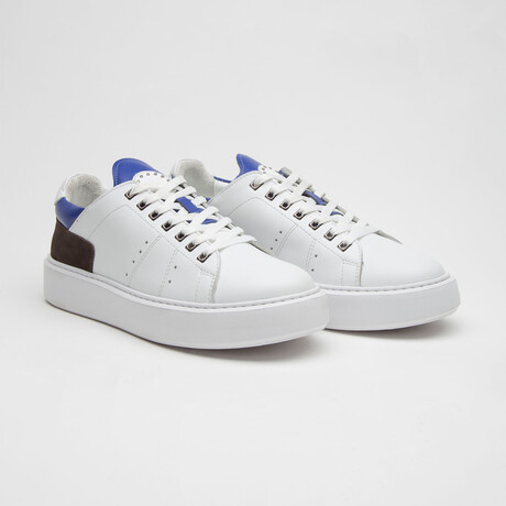 TT1660 Sneakers // White + Blue (Men's Euro Size 40)