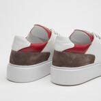 TT1660 Sneakers // White + Red (Men's Euro Size 40)
