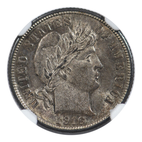 1916 Barber Dime // NGC Certified // MS-63