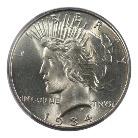 1934 Peace Dollar // PCGS Certified // MS-65