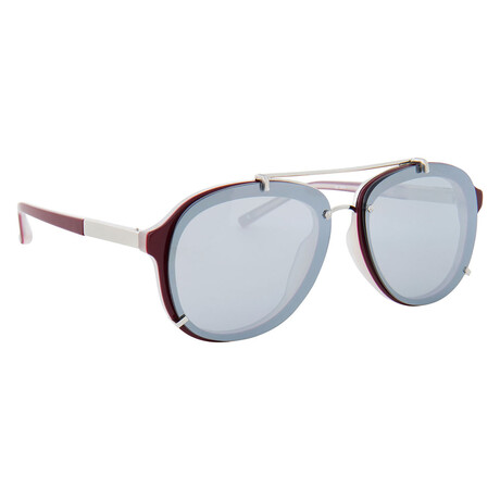Unisex PL162C4SUN Sunglasses // Maroon