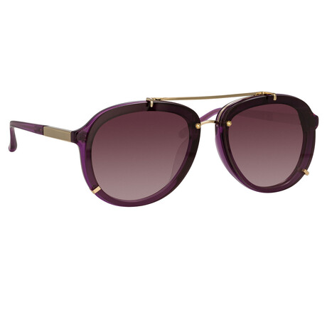 Unisex PL162C15SUN Sunglasses // Purple