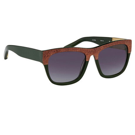 Unisex PL93C5SUN Sunglasses // Brown Wood