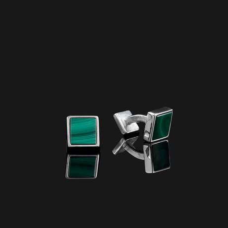 Essential Cufflinks // Silver (Onyx)