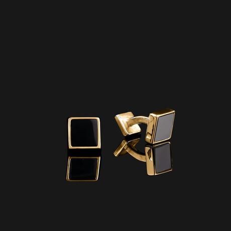 Essential Cufflinks // Gold (Onyx)