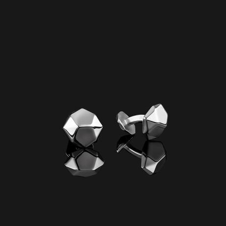 Geom Cufflinks // Silver