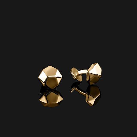 Geom Cufflinks // Gold