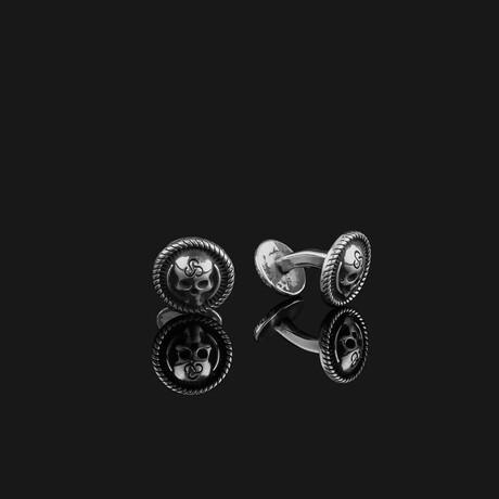 Skull Cufflinks // Silver