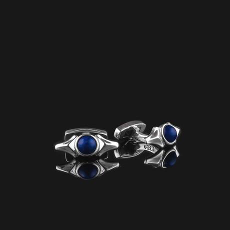 Kudos Cufflinks // Silver (Onyx)