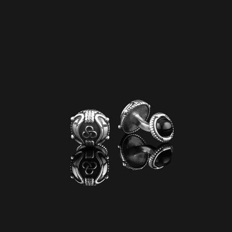 Premium Cufflinks // Silver (Onyx)