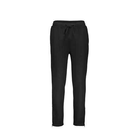 Fleece Zip Bottom Sweatpants // Black (S)