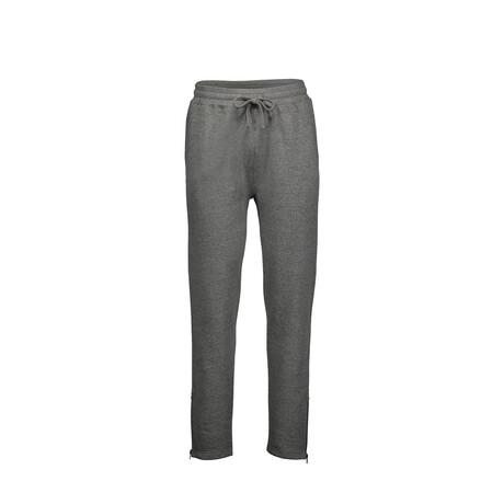 Fleece Zip Bottom Sweatpants // Gray (S)