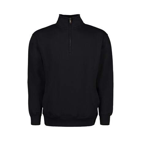 Quarter Zip Fleece // Black (S)