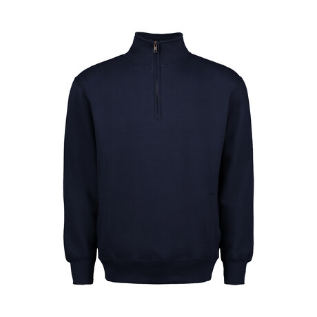 Quarter Zip Fleece // Navy (S)
