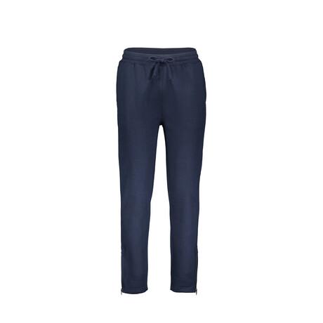 Fleece Zip Bottom Sweatpants // Navy (S)
