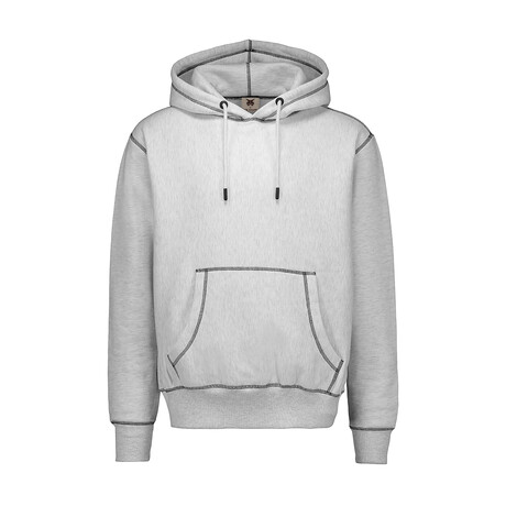 Chunky Stitched Hoodie // Gray (S)