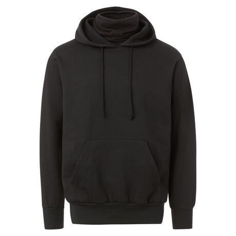 Fleece Gaiter Hoodie // Black (S)