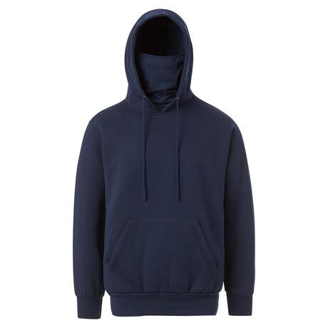 Fleece Gaiter Hoodie // Navy (S)