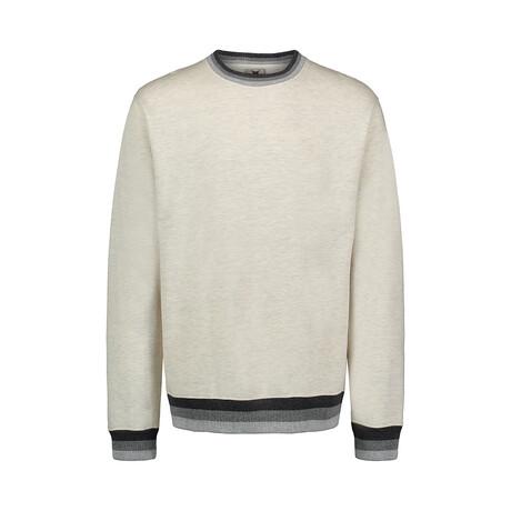 Cuff Stripe Fleece Crew // Oatmeal (S)
