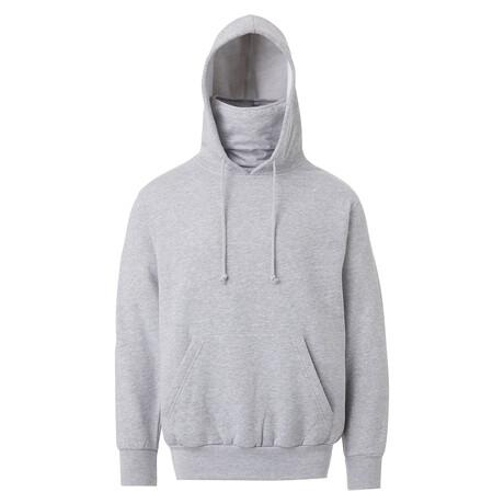 Fleece Gaiter Hoodie // Gray (S)