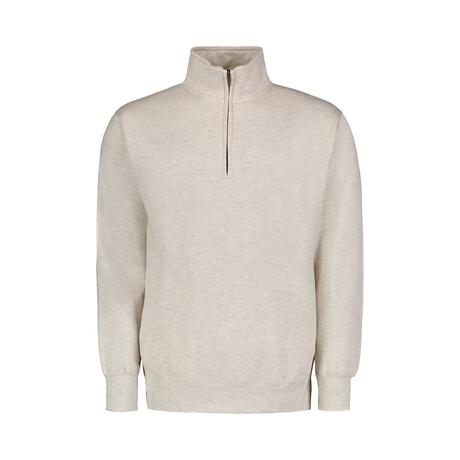 Quarter Zip Fleece // Oatmeal (S)