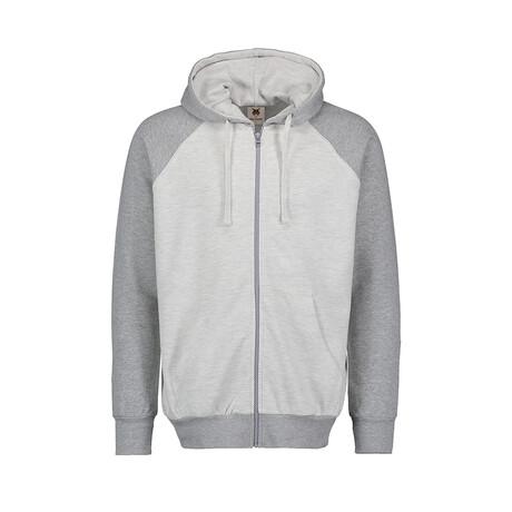 Stitch Full Zip Hoodie // Gray (S)