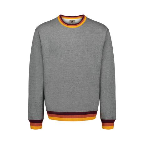 Cuff Stripe Fleece Crew // Gray (S)