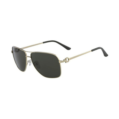Unisex SF170S-756 Aviator Sunglasses // Shiny Yellow Gold