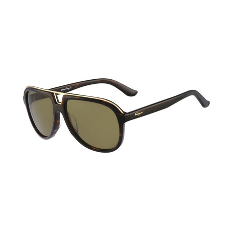 Unisex SF730S-214 Aviator Sunglasses // Tortoise