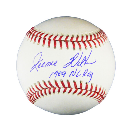 "Jerome Walton // Signed Rawlings Official MLB Baseball // ""1989 NL ROY"" Inscription"