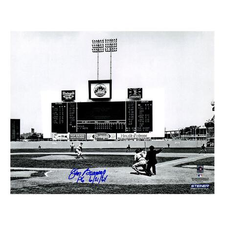 "Jim Bunning // Philadelphia Phillies // Signed Perfect Game Action Photo // ""PG 6-21-64"" Inscription // 8X10"