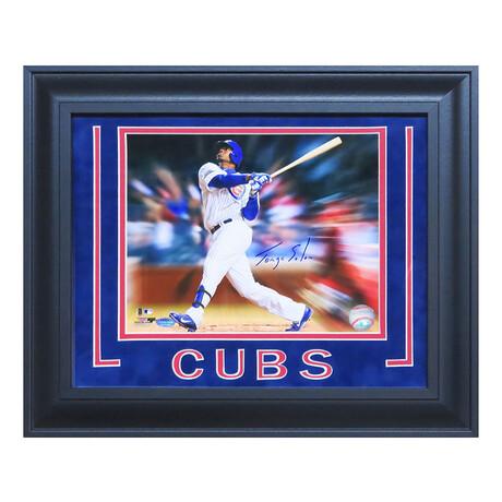 Jorge Soler // Signed Chicago Cubs Motion Blast Action Photo // 8X10 // Framed