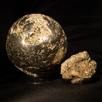 Perfect Pyrite Sphere & Natural Pyrite Cluster