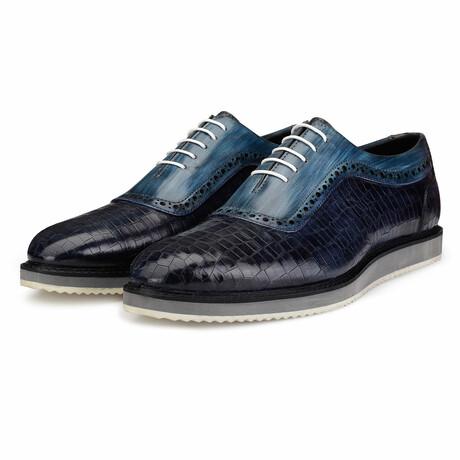 Oxford Sneaker // Navy Croc (US: 8)