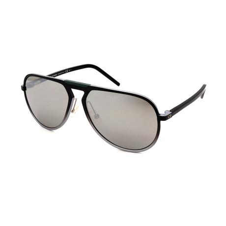 Dior // Men's AL13-2-T5B Pilot Sunglasses // Gray + Black