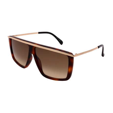 Givenchy // Women's GV7146-G-S-2IK Rectangular Sunglasses // Dark Havana