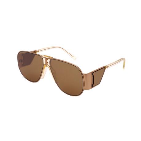 Givenchy // Unisex GV7164-S-J5G Pilot Sunglasses // Gold