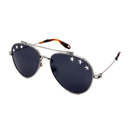 Givenchy // Women's GV7057-N-SRJ Aviator Sunglasses // Gunmetal
