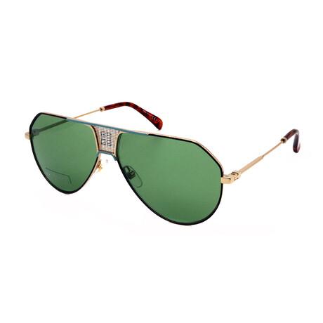 Givenchy // Women's GV7137-S-MFU Aviator Sunglasses // Gold