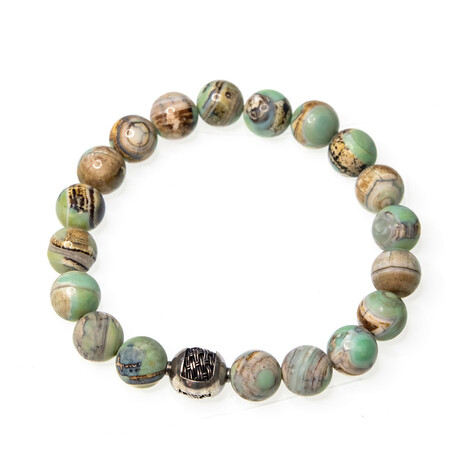 Dell Arte // Dragon Agate Beaded Bracelet // Multicolor