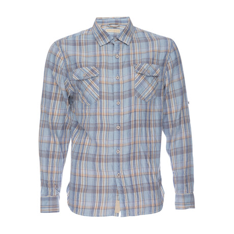Truman Flap Pocket Shirt // Light Blue Plaid (XS)