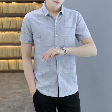 Henao Short Sleeve Button Up Shirt // Gray (M)