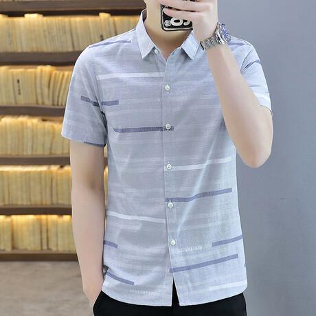 Tolhoek Short Sleeve Button Up Shirt // Gray (M)