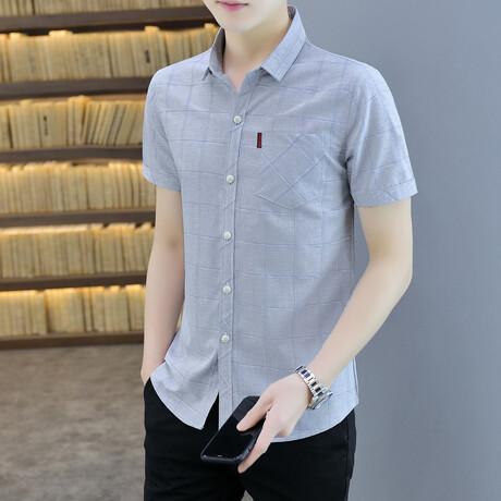 Cattaneo Short Sleeve Button Up Shirt // Gray (M)