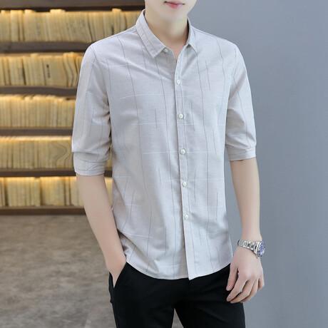 Molano Long Sleeve Button Up Shirt // Khaki (M)